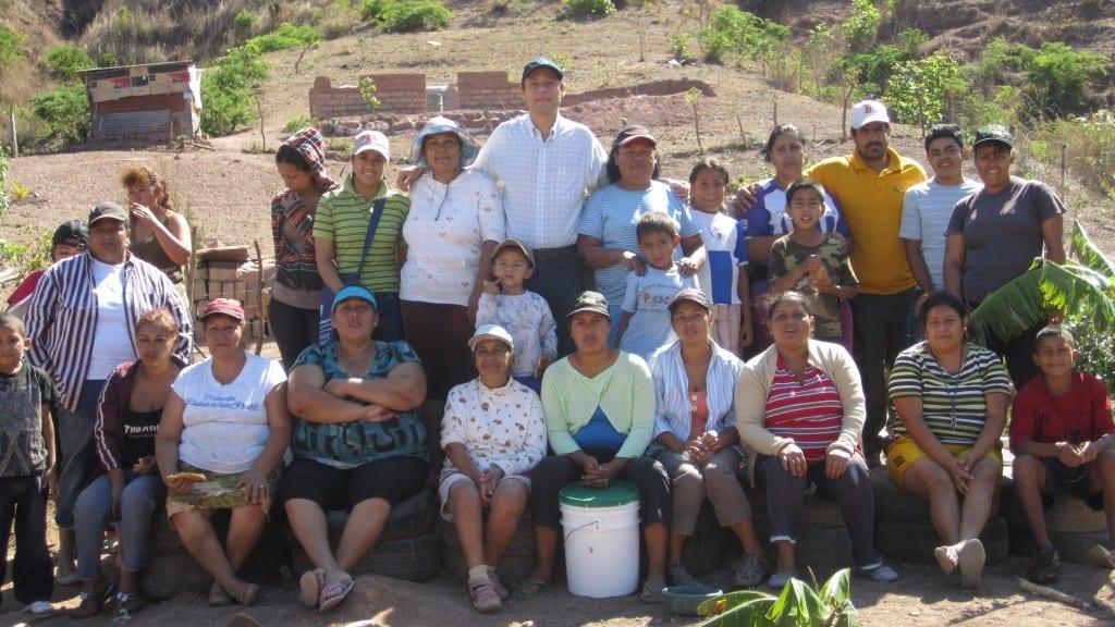 Microemprendedores hidropónicos en Tegucigalpa, Honduras)